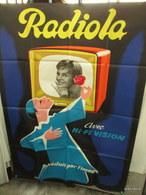 Grande Affiche Originale  Radiola Pliée 114 Cm Sur 156 Cm  René Ravo - Affiches