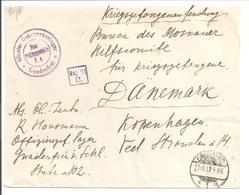 WO1 Kriegsgefangene.POW. Gnadenfrei>Danmark - 1. Weltkrieg