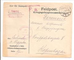 WO1 Kriegsgefangene.POW. Dolmetscher. Gnadenfrei>Danmark - 1. Weltkrieg