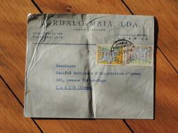 1959 - Lettre à Entête Pour Paris - 2 Timbres Cartes - FRANCO DE PORT - Angola