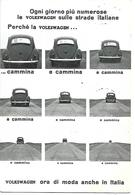 MAG001 - CARTOLINA PUBBLICITARIA MAGGIOLINO VOLKSWAGEN  - CONCESSIONARIA DORIGONI TRRENTO - BERLINA 1200 - Cartoline