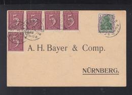 Dt. Reich PK 1922 Neumark I. Opf. Nach Nürnberg - Briefe U. Dokumente