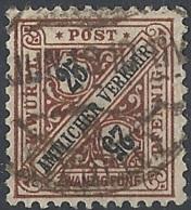 Württemberg, 1919 OFFICIAL 25pf Brn & Blk, Wmk Crosses And Circles. # Michel 251 - Scott O129 - Yvert S66 USED - Wuerttemberg