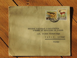 Vers 1955 - Lettre Pour Paris - 2 Timbres Animaux - FRANCO DE PORT - Angola