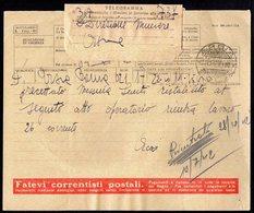 ITALY ITALIA 1942. ARSIA TELEGRAMMA (POSTAL TELEGRAM) - 1900-44 Vittorio Emanuele III