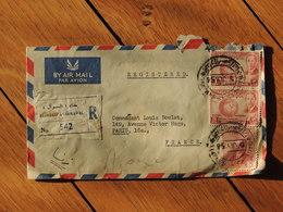 1956 - Lettre En Recommandé Pour Paris -3 Timbres - FRANCO DE PORT - Iraq
