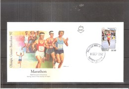 Marathon - FDC Olympic Games Barcelona 92 - Athlétisme