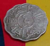 New IRAQ - 4 Fils - Km 105 - 1938 - Rare - King Ghazy - Agouz - Iraq