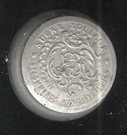 Boite Sucre Edulcor Aluminium - Diamètre 33 Mm épaisseur 15 Mm - Contient De La Poudre - Boîtes