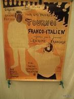 Affiche Pliée - Poster -  Repro   -  Le Cirque Des Champs  Elysées -escrime  Tournoi Franco- Italien  60 Cm Sur 78 Cm - Affiches
