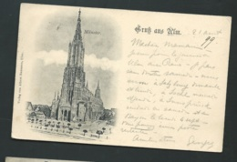 Cpa Allemagne Gruss Aus Ulm Münster Aout 1899      Xe43 - Ulm