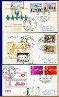 ITALIA - FDC  1971 - Raccomandate Con Timbro Arrivo - UNICEF - NATALE - EUROPA - F.D.C.