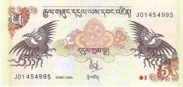 Bhutan - Pick 28a - 5 Ngultrum 2006 - Unc - Bhoutan