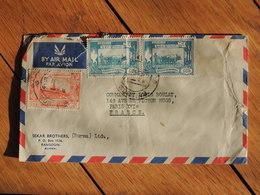 1955 - Birmanie - Lettre Pour Paris - 3 Timbres - FRANCO DE PORT - Timbres
