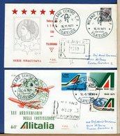 ITALIA - FDC  1971 - Raccomandate Con Timbro Arrivo - SIRACUSANA Lire 180 - ALITALIA - 6. 1946-.. Repubblica