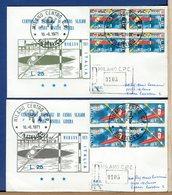 ITALIA - FDC  1971 - Raccomandate Con Timbro Arrivo - QUARTINA - CAMPIONATI MONDIALI CANOA A MERANO - 1946-.. République