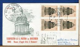 ITALIA - FDC  1971 - QUARTINA -  Raccomandate Con Timbro Arrivo - BRAMANTE - F.D.C.