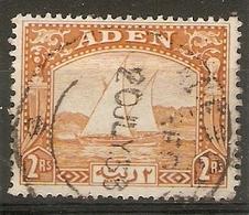 ADEN 1937 2R DHOW SG 10 FINE USED Cat £42 - Aden (1854-1963)
