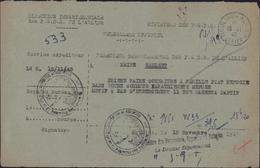Télégramme Rapatriement Refusé à Réfugiés Hébergement Impossible Cachet Ministère Prisonniers Guerre Déportés Réfugiés - Marcophilie (Lettres)