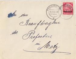 Lettre De Freyming (T 325 Freimengen A) TP Lothr 12pf=1°éch  Le 13/12/40 Pour Metz - Postmark Collection (Covers)