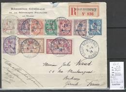 Maroc - Lettre De Rabat - En Tete De La Résidence Générale - Yvert Entre 25 Et 36 - 1914 - Morocco (1891-1956)