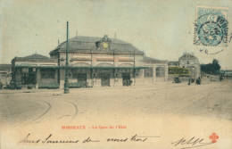33 BORDEAUX / La Gare De L'Etat / Carte Couleur / - Bordeaux