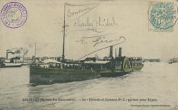 """33 BORDEAUX / Le """"Gironde Et Garonne N°2"""" Partant Pour Royan / - Bordeaux"""