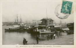 33 BORDEAUX /  Embarcadère Des Bateaux Hirondelle / Carte Glacée / - Bordeaux