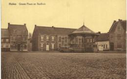 Halen  Groote Plaats En Stadhuis. - Halen