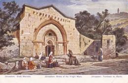 AQ84 Jerusalem, Grave Of The Virgin Mary - Art Postcard - Israel