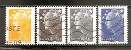 Francia-France Nº Yvert  4226-28, 4231 (usado) (o) - Francia