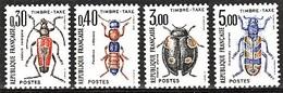 France 1983 Timbre-taxe Animaux / Animals Yvert TT 109 / 112 MNH - Taxes
