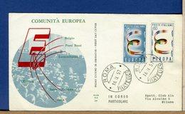 ITALIA - FDC 1957 - EUROPA - 6. 1946-.. Repubblica