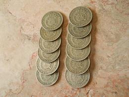 Lot 12 Coins 1 Escudo 1949 Portuguese Cabo Verde - Monedas & Billetes