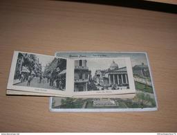 Rare Cpa Carte A Systeme Depliant 9x14 V Argentine Argentina Buenos Aires Plaza 25 De Mayo 12 Vues Bon Etat - Argentine