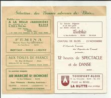 41 . BLOIS . PROGRAMME DU BAL DES CATHERINETTES . PAR L AMICALE TOURISME DES DEPORTES DU TRAVAIL - Programs