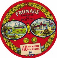 ETIQUETTE FROMAGE Type CAMEMBERT, -  Fab En POTOU  VIENNE   86-I - Fromage