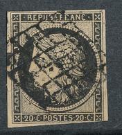 N°3 NUANCE ET OBLITERATION. - 1849-1850 Cérès