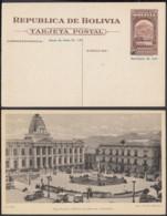Bolivie - Entier Postal Illustré Neuf-. Vue:  La Paz - Plaza Murillo.  Ref. (G23673) DC-MV-191 - Bolivia