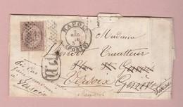 Italien Napoli 02.05.1866 Porto Brief Nach Versoix (Genf) Mit 30 C. EF - Storia Postale