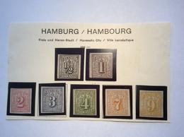 Hamburg 1859 FRISCHER PRACHT Satz Ungebraucht (*) Teils Geprüft  BPP ( Altdeutschland - Hamburg (Amburgo)