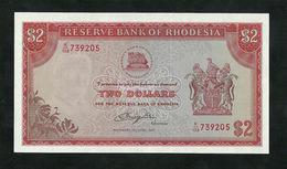 RHODESIA 2 DOLLARS 1977 Pick#35b UNC - Rhodesia