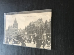 RU  London  1908 Liverpool Street Station Caleches Tripoteurs Pub Pietons - Otros