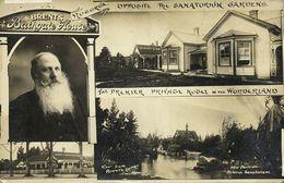 New Zealand, ROTORUA, Brent's Bathgate House, Sanatorium Gardens (1910s) RPPC - New Zealand