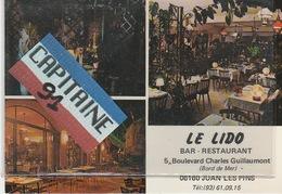 CPSM  JUAN LES PINS ALPES MARITIMES LE LIDO BAR RESTAURANT - Frankrijk