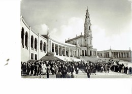 PORTUGAL 1959  -  VINTAGE POSTCARD -FATIMA - SANCTUARY - THE BASILICA MAILED TO ITALY 22.7.1959 LUCIDA NUOVA POST7412 - Santarem