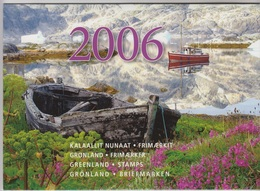 2006** (sans Charn., MNH, Postfrish)  Original Year Pack As Issued - Groenland
