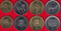 Somalia Set Of 4 Coins: 10 - 100 Shillings 2000-2002 UNC - Somalie