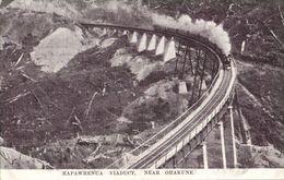 New Zealand, OHAKUNE, Hapawhenua Viaduct With Steam Train (1920s) Postcard - New Zealand
