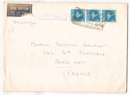 Enveloppe Du 24 Décembre 1965 De Pondicherry Pour Paris - Lettres & Documents
